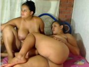 Chubby Lezzy Duo Playing on Webcam