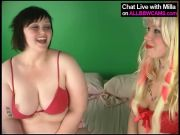 Girly-girl BBW AND blond model 1