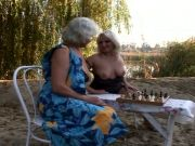 lesbo grannies pounding outdoors