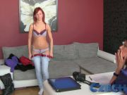 Czech Fabulous redheads first time with a lady during casti
