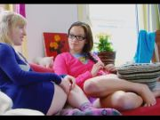 2 uber-cute youthful lesbos love each other