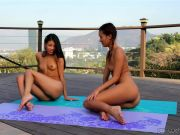 Alina Li and Veronica Rodriguez – My Highly first Yoga Class