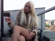 MAGMA FILM Big-boobed blondie German honey massages her sumptuous pussy