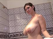 Bubblebath playtime with Lina's ginormous soapy titties