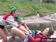 Ladies Out West – Hot girly-girl fuckfest in public