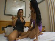 Angel & Erika latin lesbo tribadism