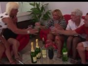 FOUR Grannies and a Youthful Boy Fellate Pulverize and Cum