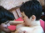 SCORCHING CHICK n126 french unshaved rectal dark haired and her friends