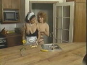 Retro lesbians with natural hooters & wooly cunts