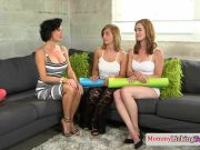 Huge-titted mature squirter trios with girly-girl teen
