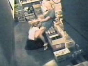 FLEDGLING LESBIANS caught in the act by a security HIDDEN CAM
