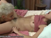 Mature pumped fur covered lesbian seduced pretty brunette