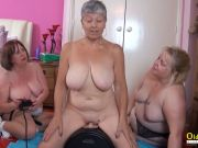 OldNannY 3 Brit Matures and Fuck-fest Machine